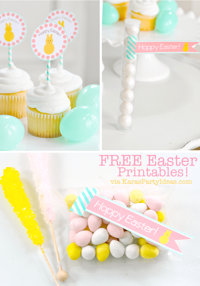 Colorful And Pretty Free Printable Easter Set