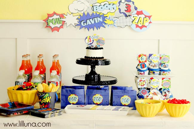 Cute boys superhero party