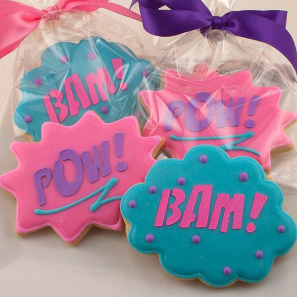 Girls Super hero cookies