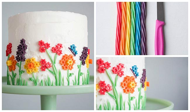 Rainbow Licorice cake!