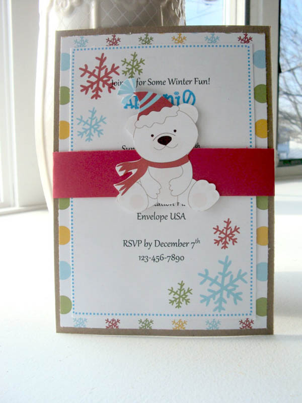 Adorable Polar Bear party invitation