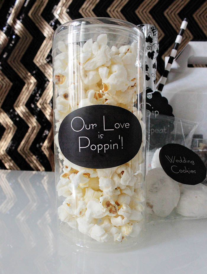 Our Love Is Poppin wedding popcorn -B. Lovely Events