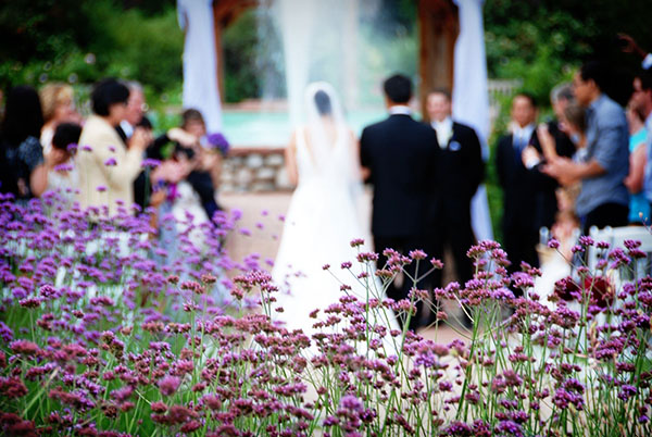 Real Purple and Blue Garden wedding