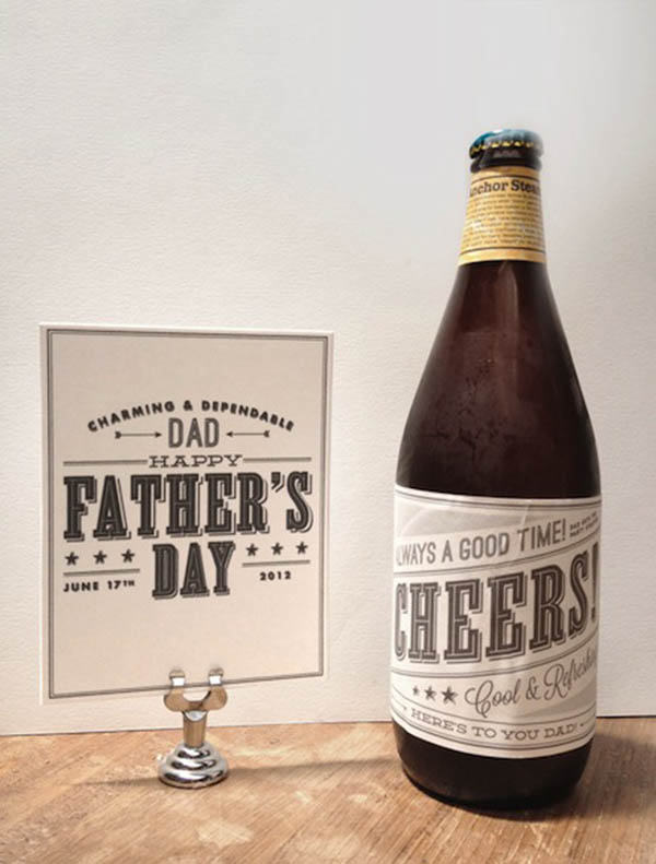 Fathers Day Beer- Too cute!