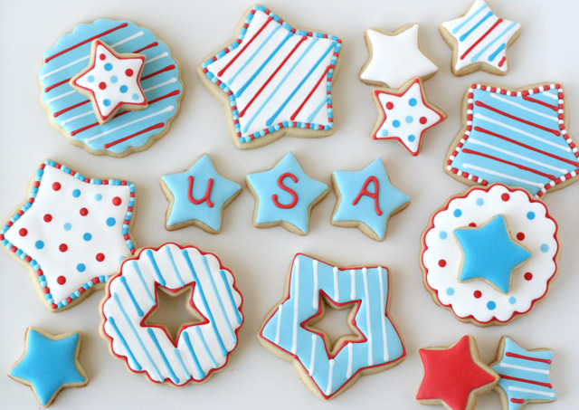 Fun color take On 4th Of July Cookies!