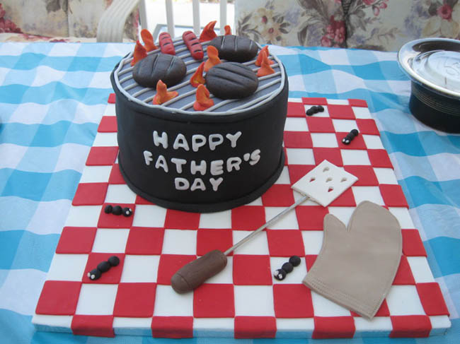 Grill theme Father's Day cake