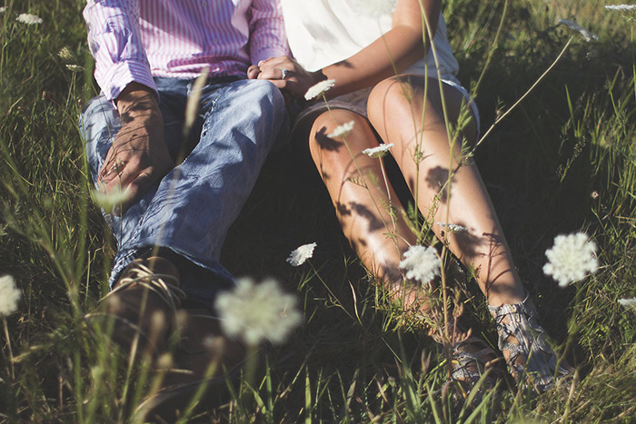 Natural Country Engagement Shoot - B. Lovely Events