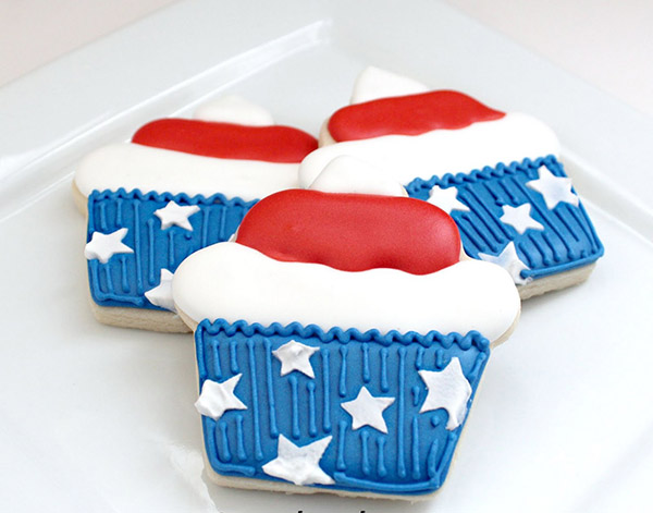 Star spangled Cupcake Cookies!