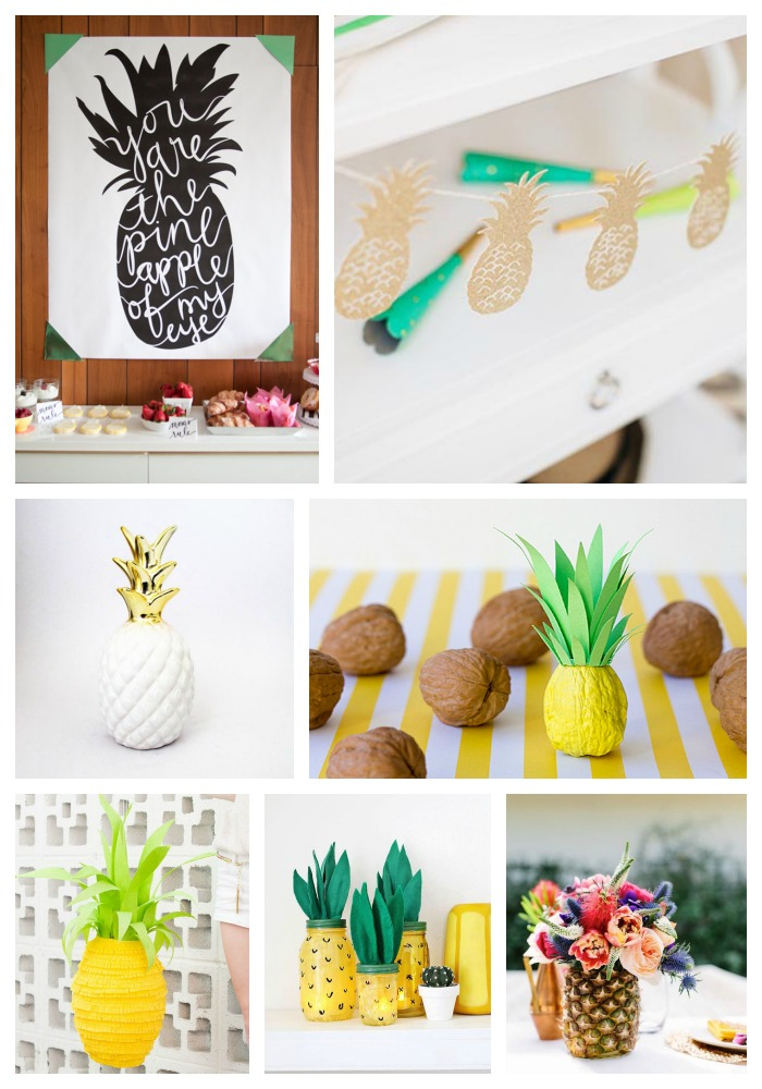 We Adore These Pineapple Party Decorations! -B. Lovely Events