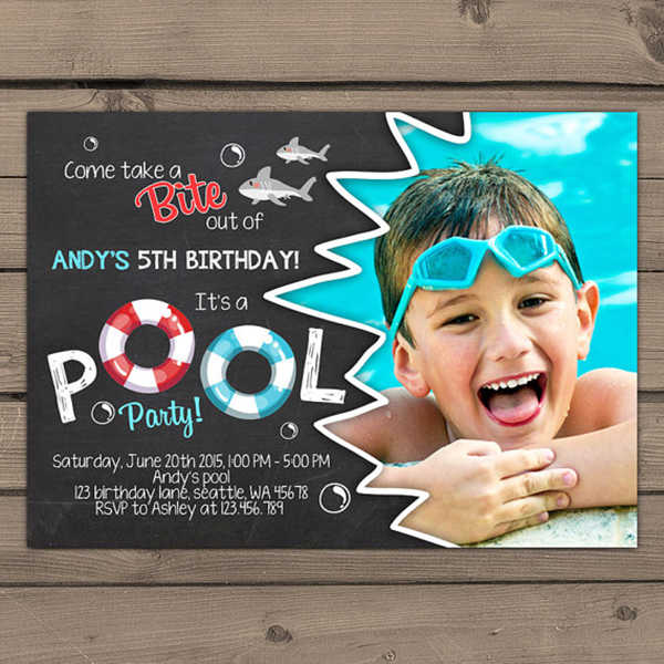 Cute Shark Party Invite!