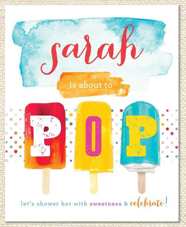 Love the fun Design of This Popsicle Party Invite!