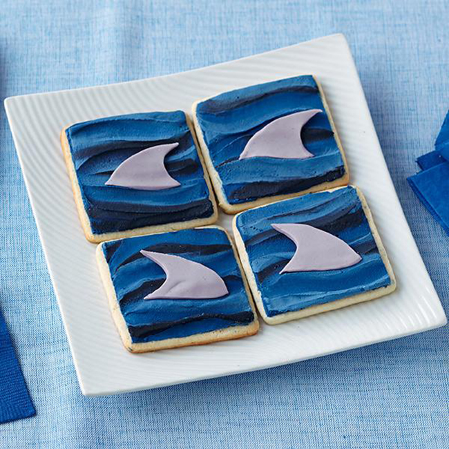 Shark Fin Cookies! LOVE!