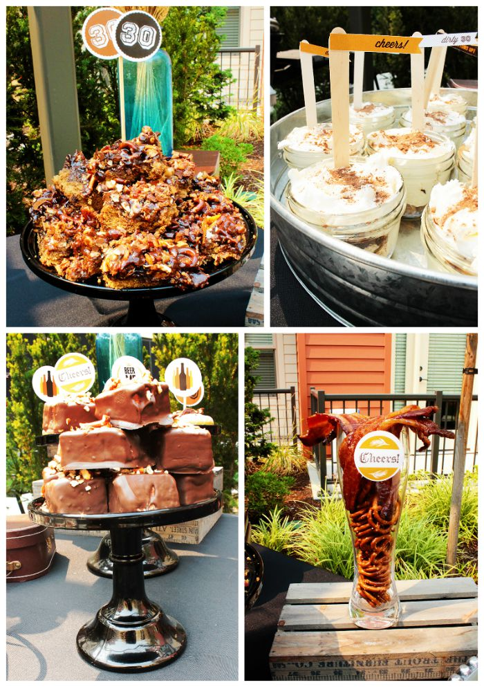 30th Birthday Beer Party Desserts - B. Lovely Events