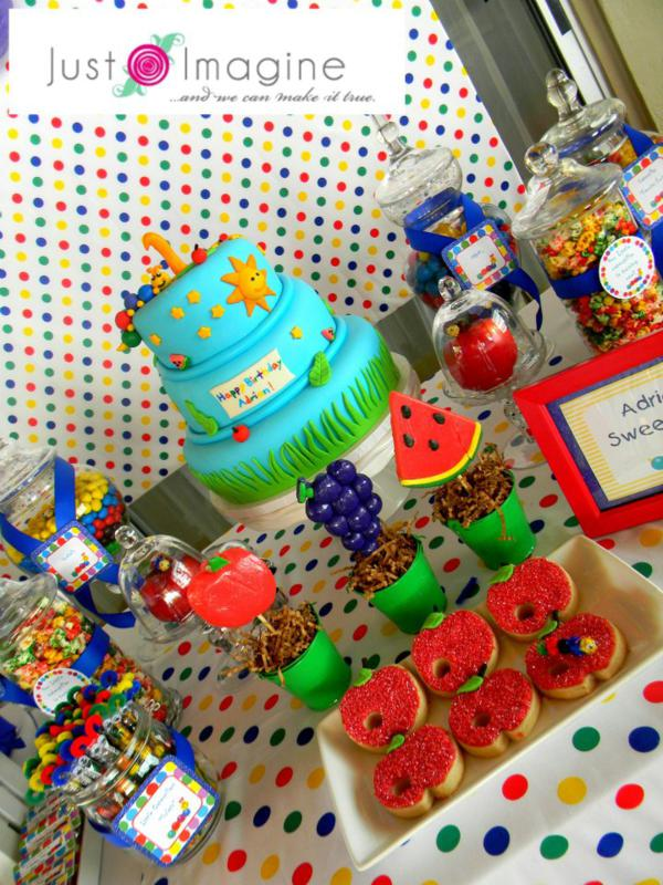 Bright and colorful Very Hungry Caterpillar Party