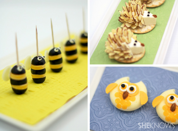 Adorable Woodland Party Food Animals out of cheese!