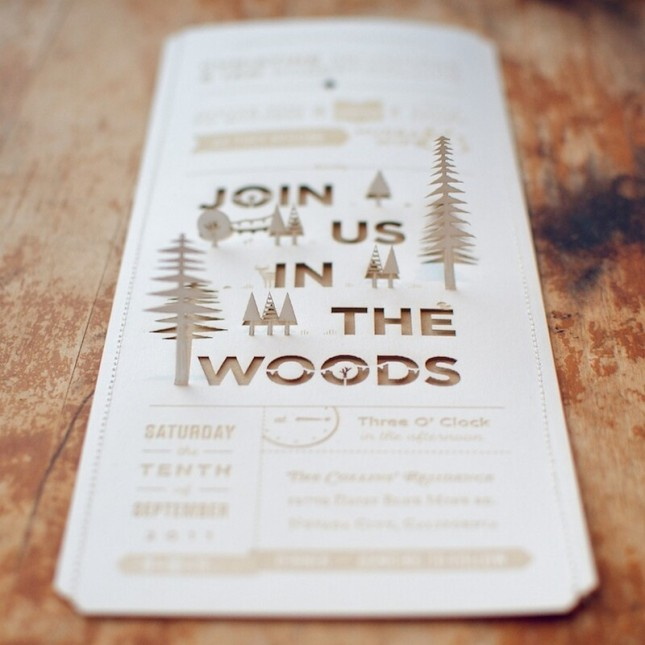 Amazing 3D Laser Cut Woodland Party Invitation!