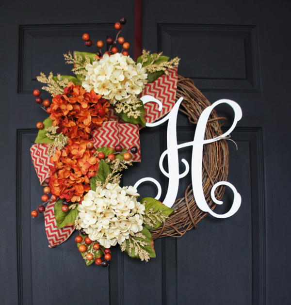 Beautiful Monogramed Wreath