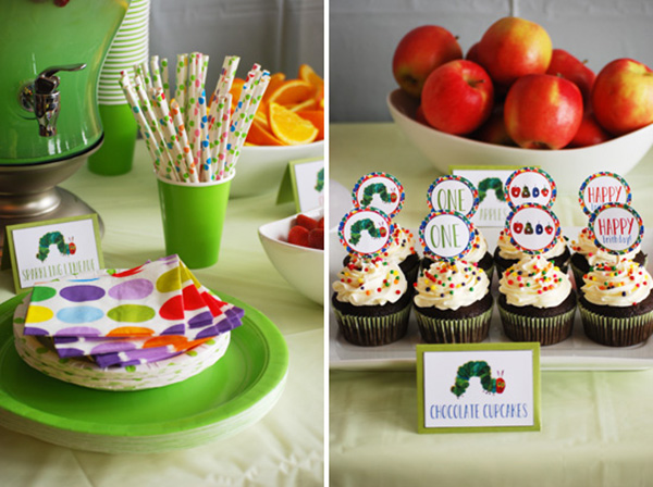 Cute Very Hungry Caterpillar Cupcakes!