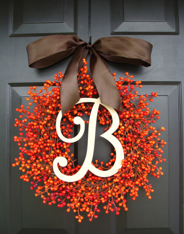 Darling Fall Berry Wreath!