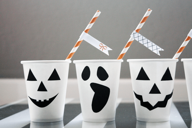 Fun Ghost Cups for drinks for Halloween!