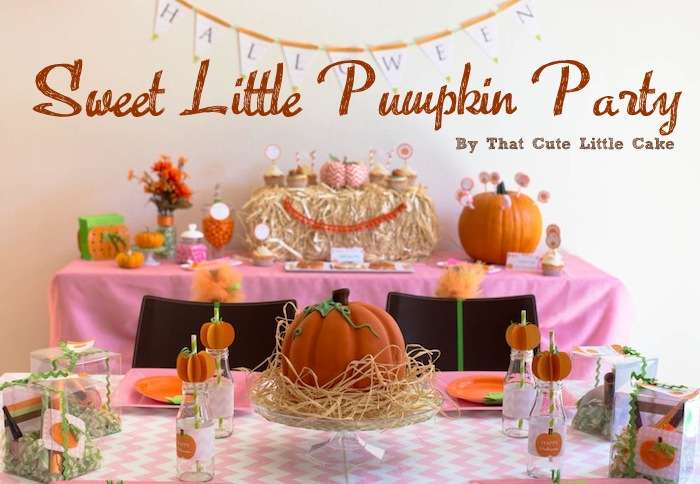 Look At THis Sweet Little Pumpkin Party!