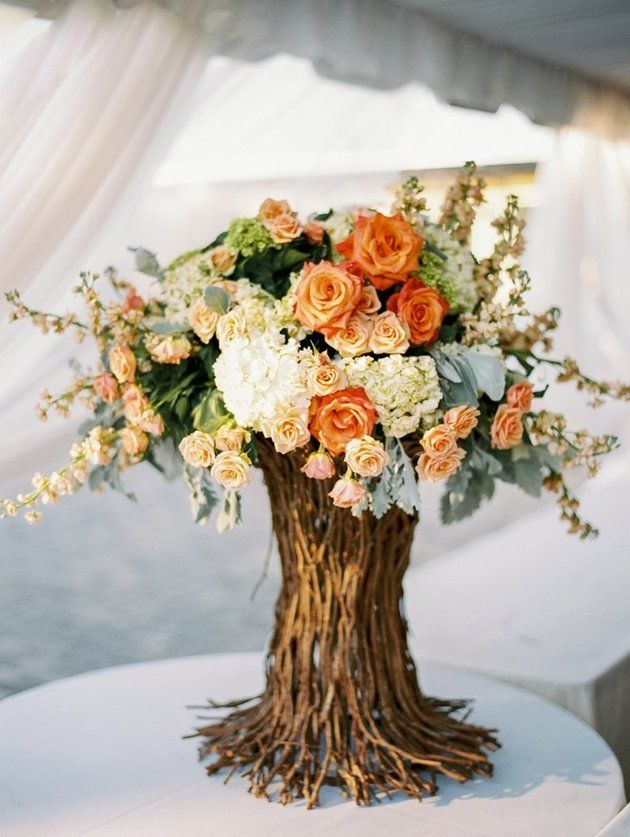 10 lovely fall wedding centerpieces b lovely events love this gorgeous fall wedding centerpiece junglespirit Choice Image
