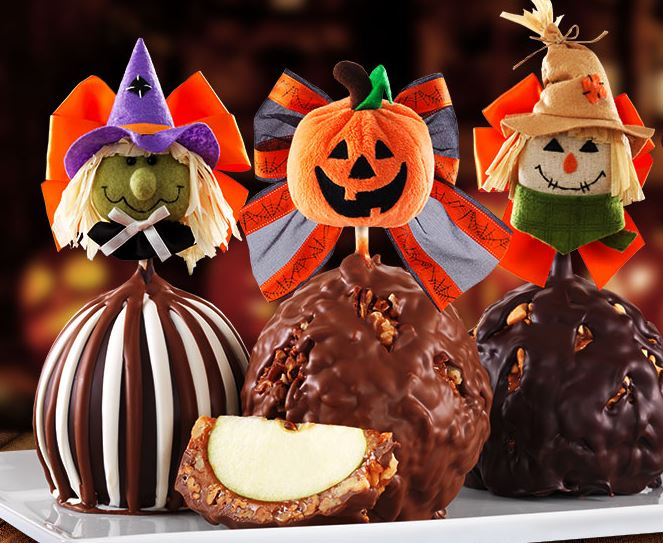 amazingly cute Halloween Caramel Apples