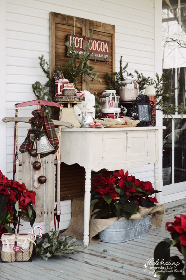 Gorgeous Hot cocoa bar set up!