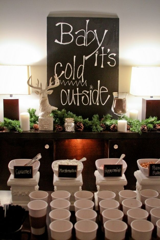 Love the set up of this Hot Chocolate Bar!