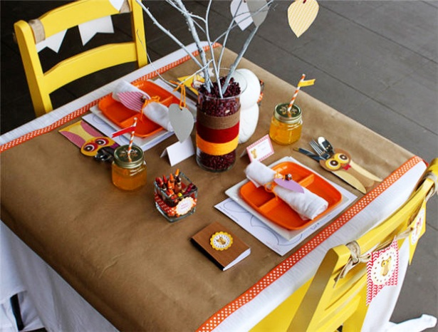 The cutest Kids Thanksgiving table!