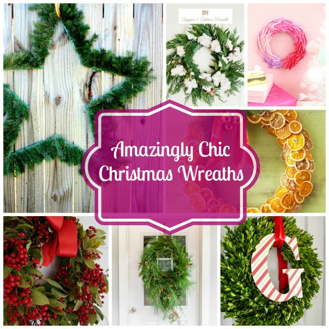 Amazingly Chic Christmas Wreaths- B. Lovely Events