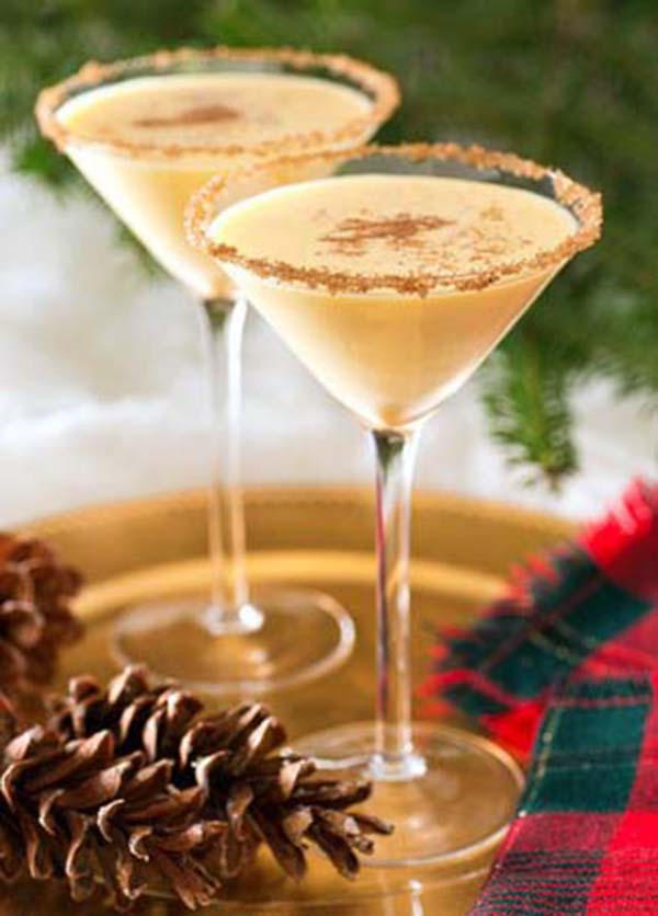 Christmas Drinks- Eggnog Martini