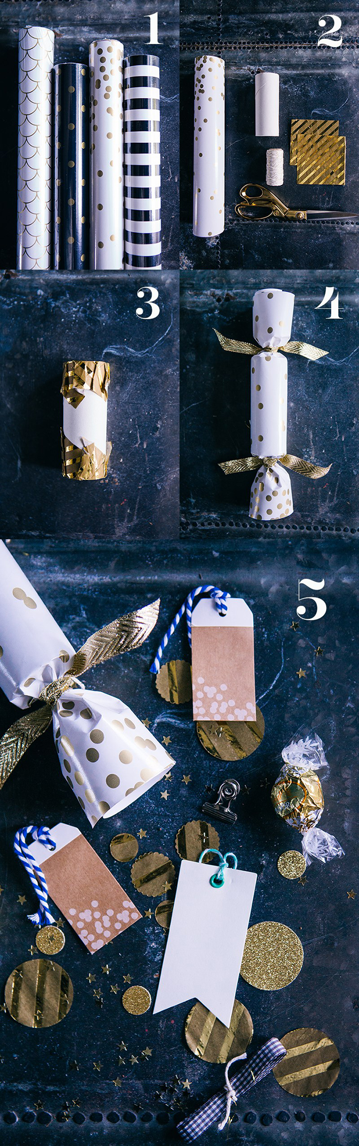 DIY Modern Crackers - Poppers