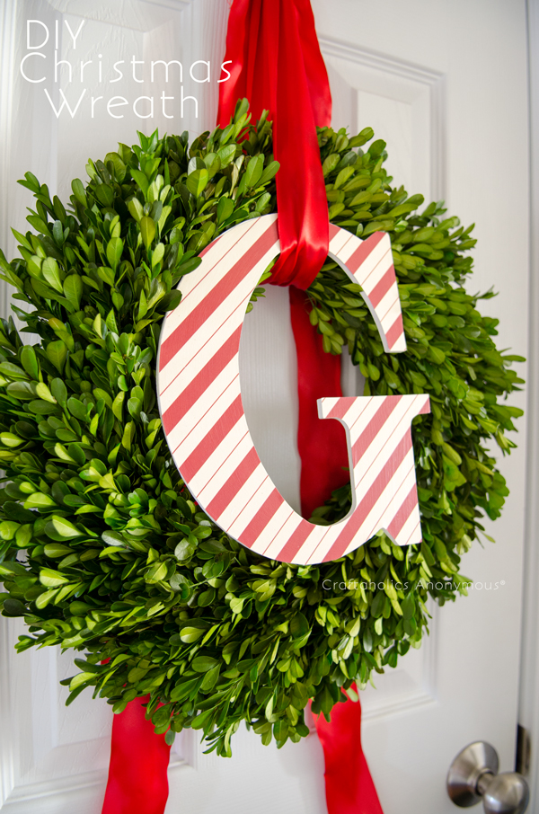 DIY Monogram Christmas Wreath