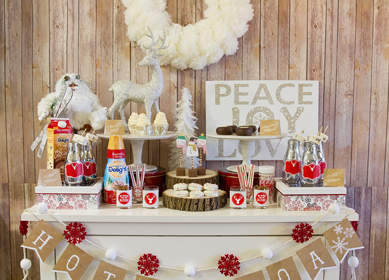 Rustic And Cozy Hot Cocoa Bar Full Of Lovely Details! - B. Lovely Events