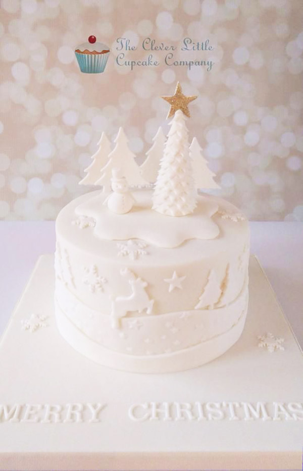 Wonderful white Christmas Cake