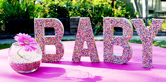 Baby Sprinkle Party Letters