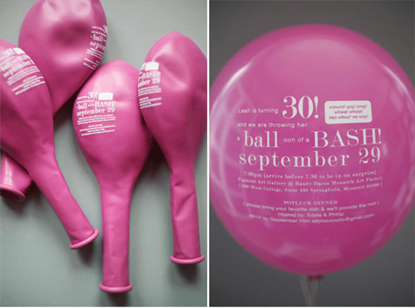Fun Save The Date Balloons With Words!