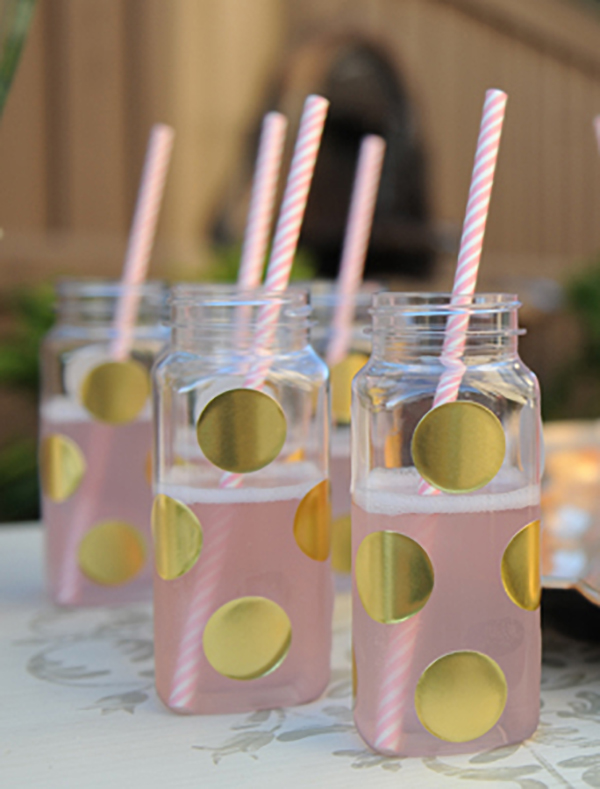Gold Polka Dot Drinks!