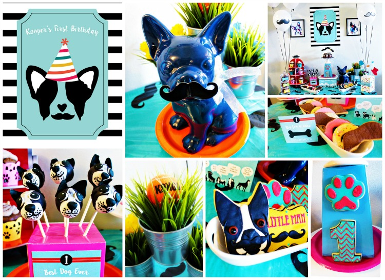 Pupstachio Mustachio Doggie Birthday Party - B. Lovely Events