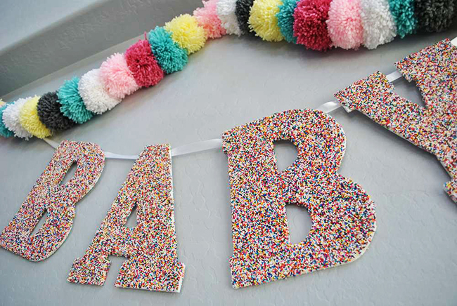 Sprinkle Baby Shower Banner Decor- So cute!