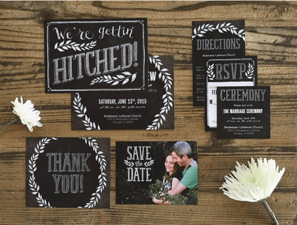 Chalkboard Wedding Invitaions Basic Invite!