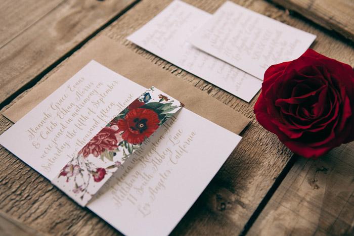 Classic Floral Wedding Invitatins Basic Invite