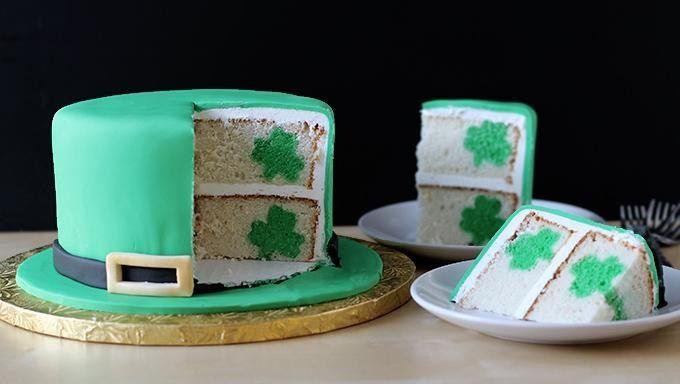 St. Patrick's Day Shamrock Cake! -See More Inspiring Shamrock Cakes On The Blog! - B. Lovely Events