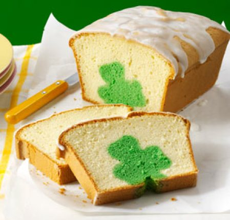 Surprise Shamrock Pound Cake DIY Recipe -See More Inspiring Shamrock Cakes On The Blog! - B. Lovely Events