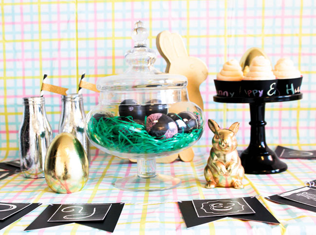 DIY Chalkboard Easter Eggs & Easter Party -Learn The How To On B. Lovely Events
