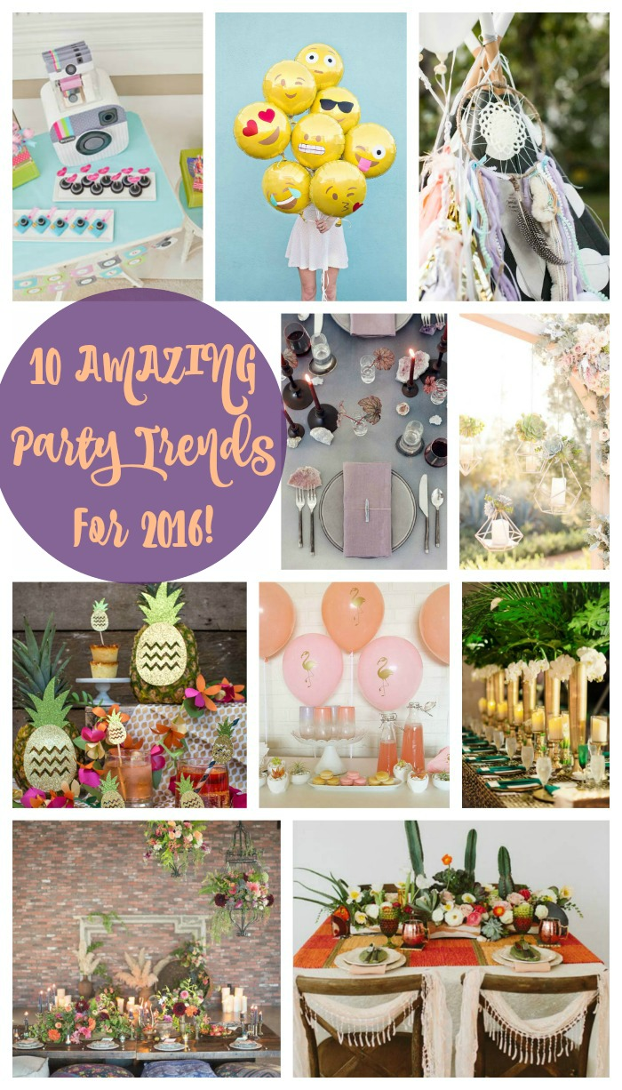 10 AMAZING Party Trends For 2016! See the hottest looks at B. Lovely Events
