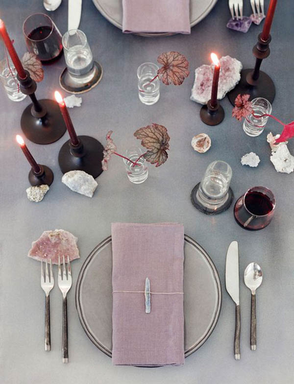 Geode Party Inspiration - See more amazing party trends for 2016 at B. Lovely Events!