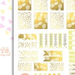 Gold Pineapple Party Printable Set
