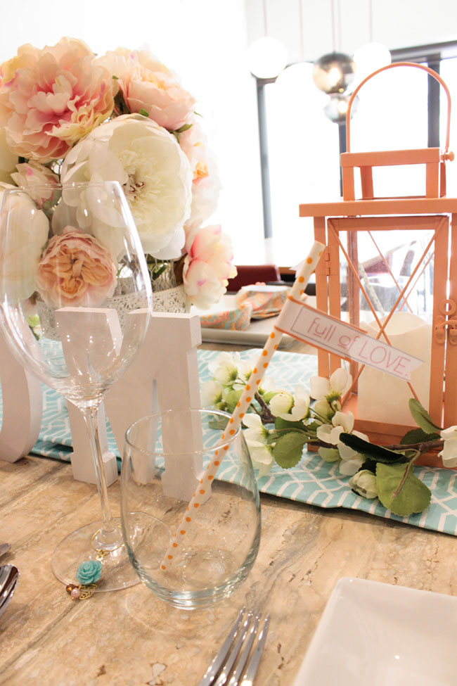 Mother's Day Table Drink And Straw Flags- See How To Put It Together On B. Lovely Events!